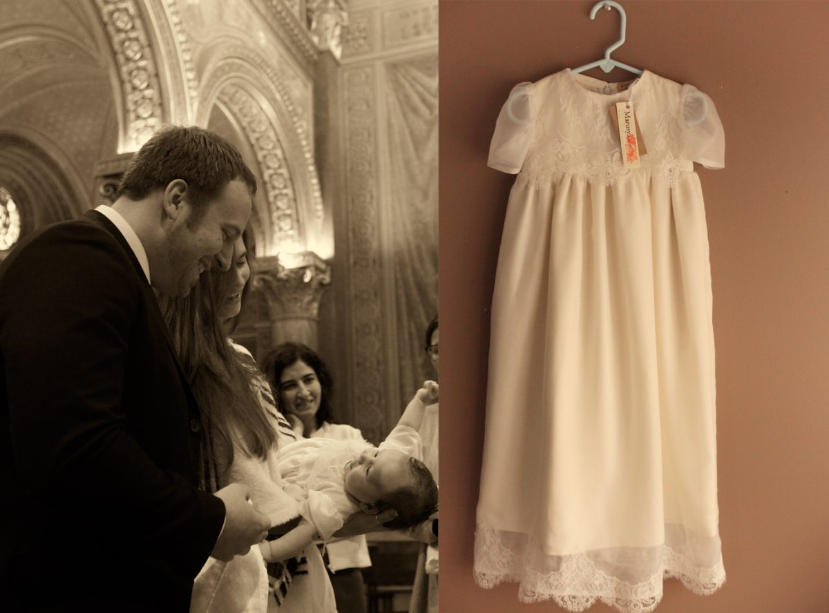 Catherine\'s Special White & Ivory Silk Baptismal Gown Made by Her ...