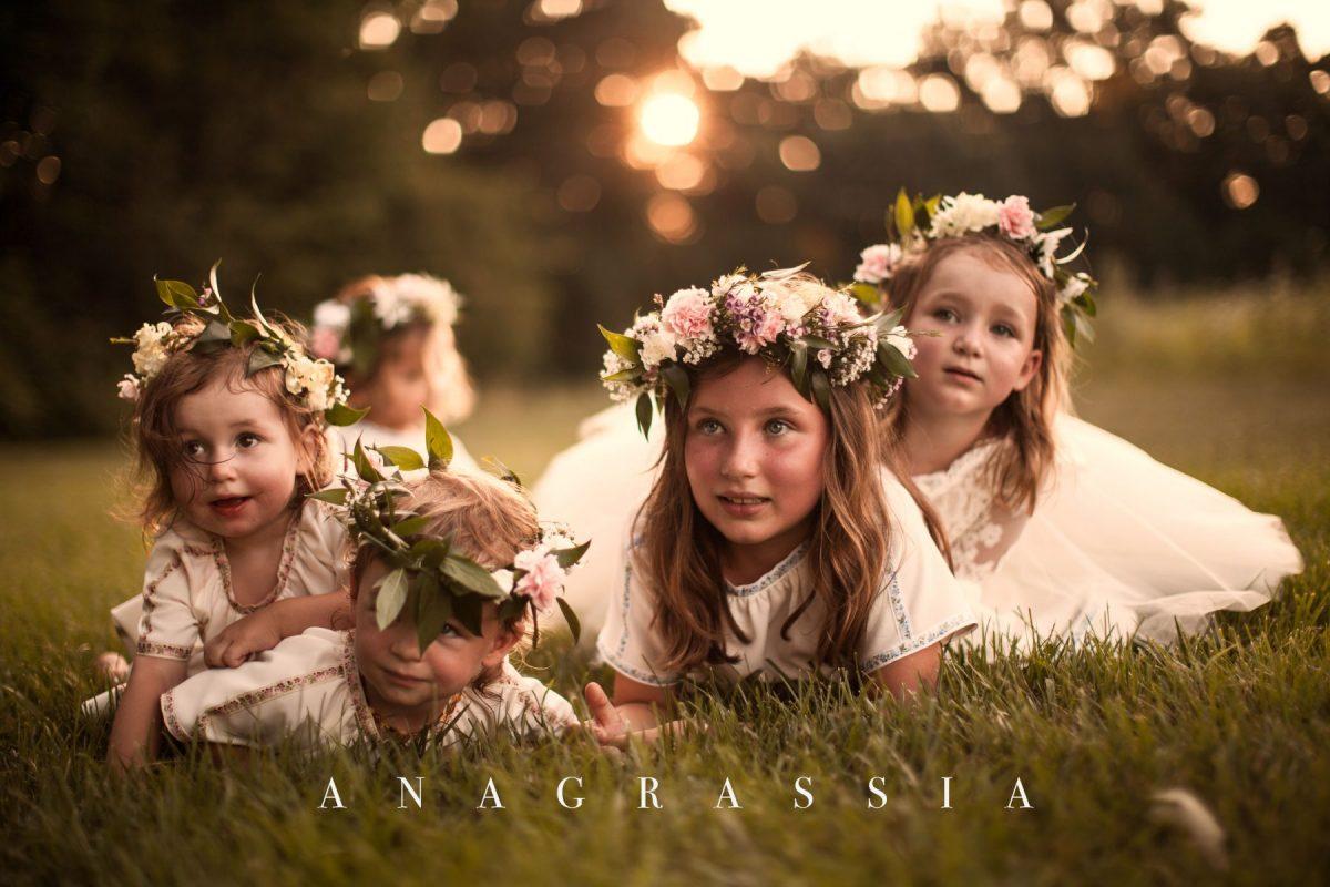 Bohemian Ukrainian Flower Girl Tulle Dress Marusya Marusya